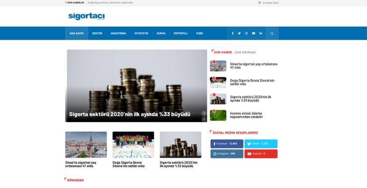 Sigortacı Gazetesi web sitesi yenilendi