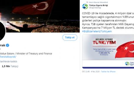 Bakan Albayrak'ın 1 milyon 500 bin takipçisi bulunuyor.