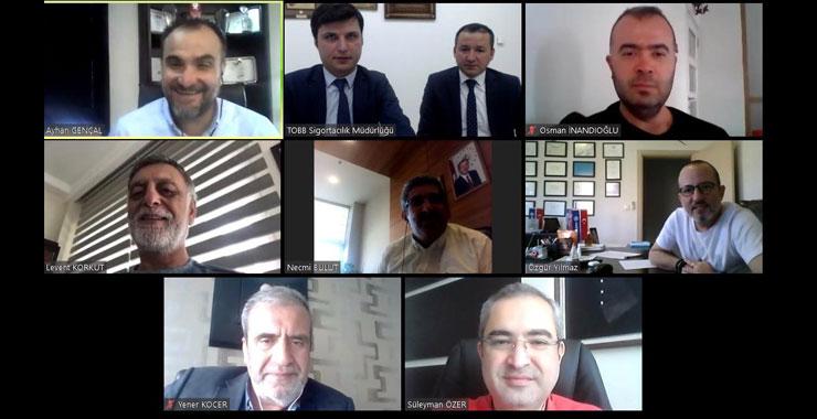 TOBB SAİK yönetimi 20. aylık toplantısını telekonferans sistemi ile gerçekleştirdi