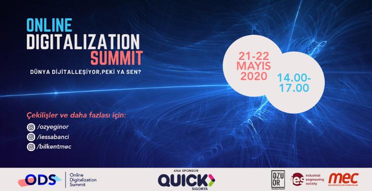 Quick Sigorta'nın sponsor olduğu Online Digitalization Summit için geri sayım başladı