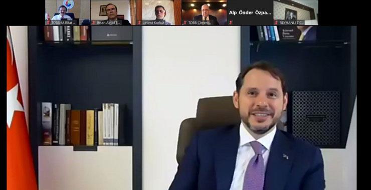 SAİK Başkanı Levent Korkut, Hazine ve Maliye Bakanı Berat Albayrak ile video konferans görüşmesi gerçekleştirdi