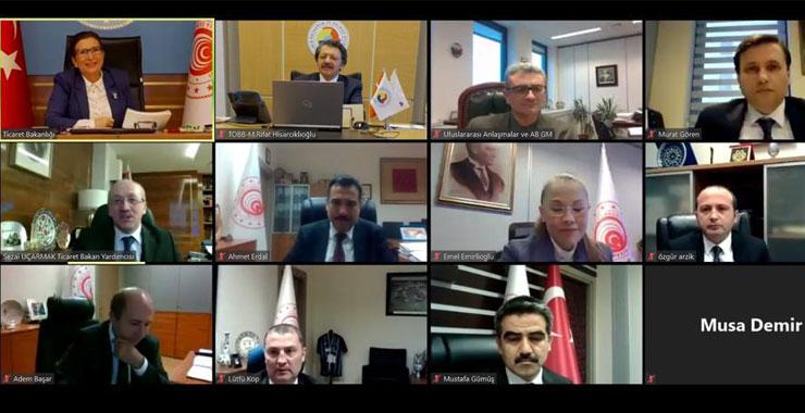 TOBB SAİK Başkanı Levent Korkut acentelerin taleplerini Ticaret Bakanı Ruhsar Pekcan ile görüştü