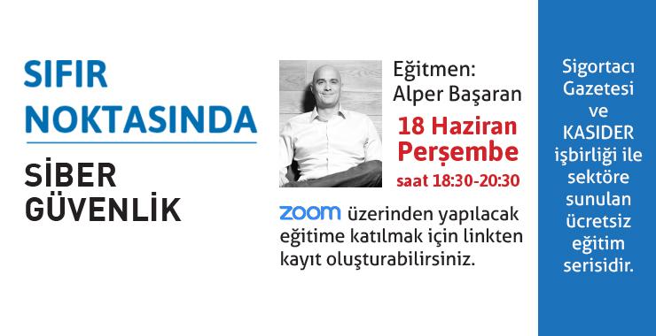 """Sigortacı Gazetesi ve KASIDER işbirliğiyle ücretsiz """"siber güvenlik"""" eğitimi"""